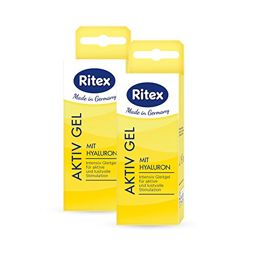 Ritex AKTIV GEL, Gleitgel mit Hyaluron, Wasserbasiert, 100 ml, Made in Germany