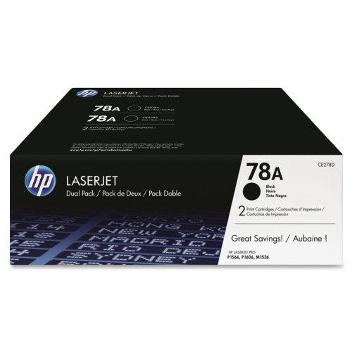 HP 78A Black 2-Pack Original LaserJet Toner Cartridge