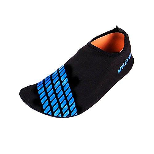 amazmall Barefoot Acqua Pelle Scarpe Aqua calzini per Beach Swim Yoga Blue