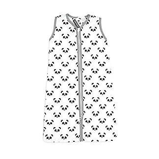 41djqjE1gkL. SS324  - Panda Dreams - Saco de dormir de verano para su hijo (70 cm, con cremallera), color gris