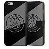 DeinDesign Étui Compatible avec Apple iPhone 6 Plus Étui Folio Étui magnétique Paris Saint-Germain Logo PSG