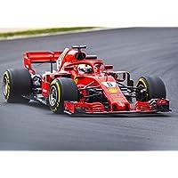 Desconocido Sebastian Vettel Ferrari Barcelona GP 2018 Fórmula 1 Póster 11049 ...