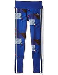 adidas Yg T F Aop Tigh - Mallas para niños de 13-14 años, color azul