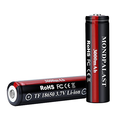 Mondpalast @ 2x 18650 Battery Pack 3000mAh 3.7V Rechargeable batteries