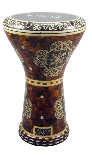 gawharet EL Fan Drum Doumbek 43,2cm Holz Design Darbuka gawharet EL Fan Drum Doumbek