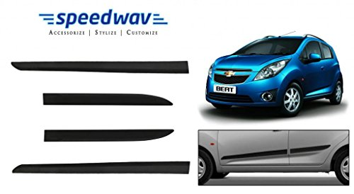 speedwav car original side beading matt black -chevrolet beat type 1 (2009-2014) Speedwav Car Original Side Beading Matt BLACK -Chevrolet Beat Type 1 (2009-2014) 41djszgPs L