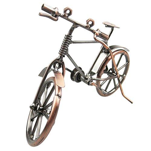 VORCOOL Deko Fahrrad Vintage Eisen Kunst Fahrrad Modell Sammlereisen Skulptur Dekoration - Eisen Kunst