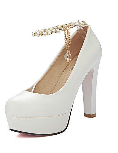 WSS 2016 Chaussures Femme-Bureau & Travail / Décontracté-Noir / Rose / Blanc-Gros Talon-Talons / A Plateau / Confort / Bout Arrondi-Talons- black-us7.5 / eu38 / uk5.5 / cn38