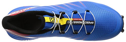 Salomon Herren Speedcross 4 Cs Laufschuhe Mehrfarbig (Bright Blue/Radiant Red/Black)