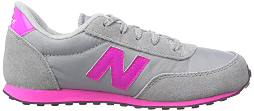 New Balance Kl410, Chaussons Sneaker Mixte Enfant Gris (yky Grey/pink)