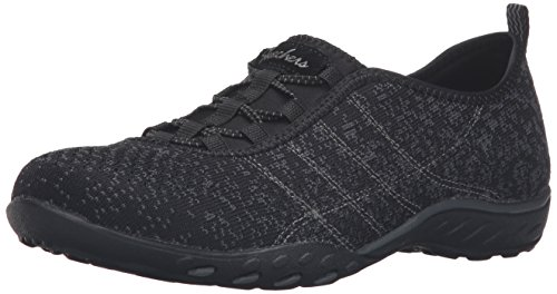 Skechers - Breathe-easy meadows, Scarpe da ginnastica Donna Black/Charcoal Mesh/Trim