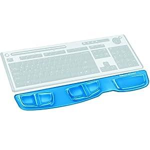 Fellowes - Crystals 'Health-V' - Repose poignets Ergonomique pour clavier - Bleu