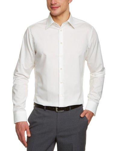Seidensticker Herren Business Hemd Tailored Langarm Kent-Kragen Bügelfrei, Medium (Herstellergröße: 40), Beige (Ecru 21)