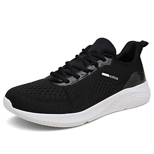 SOLLOMENSI Scarpe da Corsa su Strada Uomo Donna Ginnastica Sportive Trail Running Sneakers Fitness Casual Basse Trekking Estive All'Aperto 41 EU H Nero