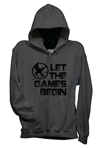 Felpa THE HUNGER GAMES - LET THE GAMES BEGIN - FILM by MUSH Dress Your Style Grigio