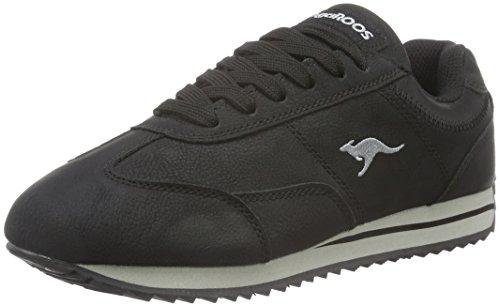 KangaROOS Teno II, Sneaker Basse Donna Nero (Nero (black 500))
