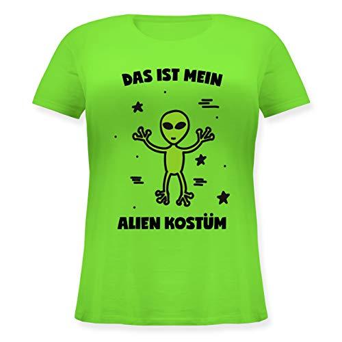 - Das ist Mein Alien Kostüm - XL (50/52) - Hellgrün - JHK601 - Lockeres Damen-Shirt in großen Größen mit Rundhalsausschnitt ()