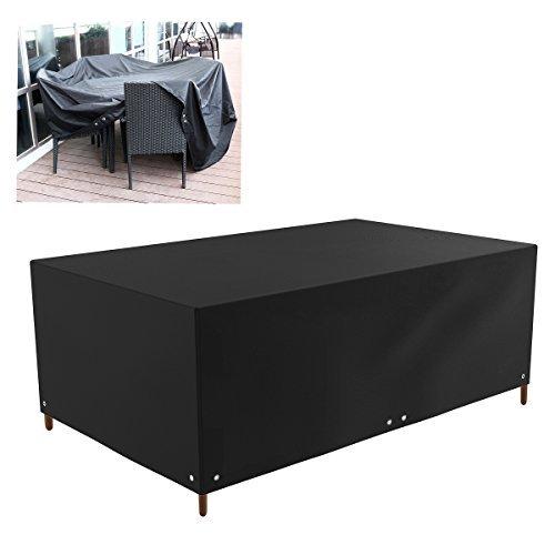 Patio-möbel-set Abdeckung (winomo Outdoor Patio-Möbel Bildschirmschutz bedeckt Wasserdicht Sofa Tisch Stuhl Set Abdeckung (schwarz))