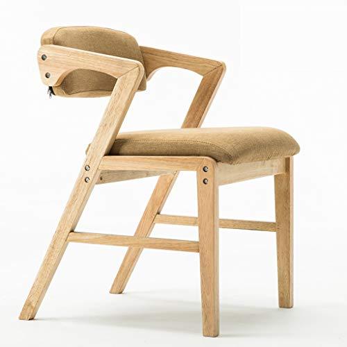 Mid Century Modern Massivholz Esszimmerstühle Vintage Casual Esszimmer Side Chair, Gepolstertem Stoff Sitz Zwei Ton,Khaki,Rawwood -
