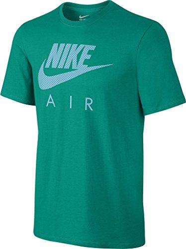 Nike Air Heritage-Tee-Maglietta a maniche corte da uomo Verde (Rio Teal / Rio Teal / Negro)