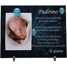 Marco de fotos para Padrino - Regalo para bautizos, Navidad, cumpleaños.