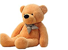 Idea Regalo - VERCART Giocattoli di Peluche Bambino Orsacchiotto Gigante Orso Bambola Morbida Regalo di Compleanno Fidanzata Marrone Chiaro 120CM