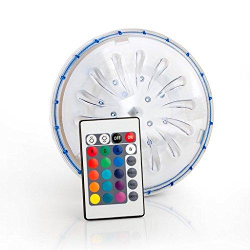 Galleria fotografica Gre PLED1C - Faretto magnetico LED COLOR per piscina fuori terra con telecomando a distanza