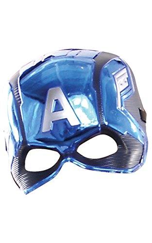 Rubie 's 39217NS Marvel Avengers Captain America Deluxe Kind 's Mask Kostüm Zubehör, Jungen, one size (Captain America Maske)