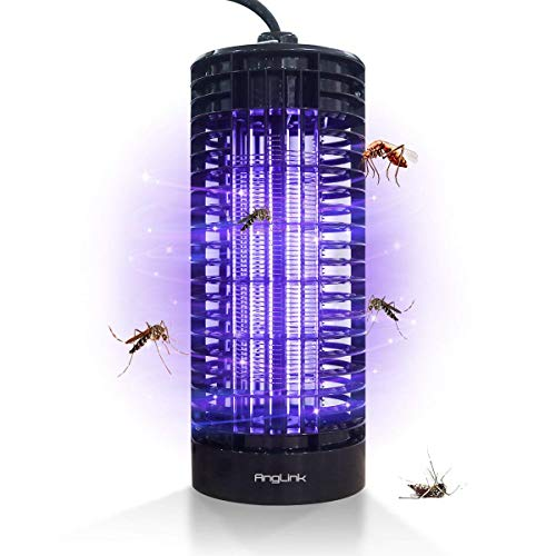 Anglink lampada zanzara trappola per insetti a led dotata di luci uv respingenti della potenza 365 nano perfetta per aree fino a 50mq di ampiezza
