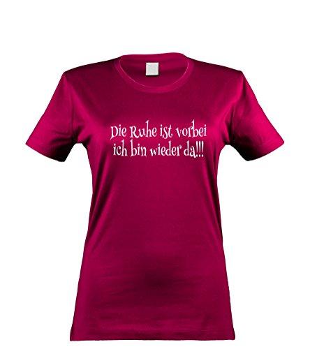 lustiges Damen T-Shirt mit witzigem Spruch, Die Ruhe ist vorbei..., Größen S-XL, cooles Fun-Shirt ideal als Geschenk, sorbet, Gr. (Bösen Kostüme Teen)
