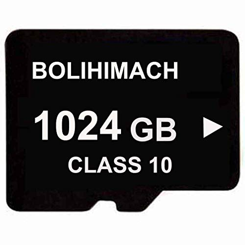 BOLIHIMACH 1024GB 1TB Micro SD SDXC TF Flash Memory Card Class 10 for Cell Phone Camera Laptop W/Reader Memory Cell