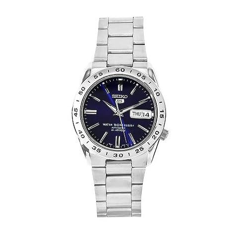 Seiko - SNKD99K1 - 5 Gent - Montre Homme - Automatique Analogique - Cadran Bleu - Bracelet Acier Gris
