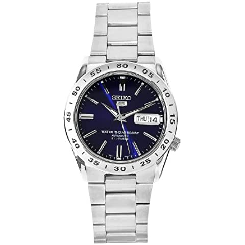 Seiko SNKD99K1 - Reloj con correa de acero para hombre, color azul / gris
