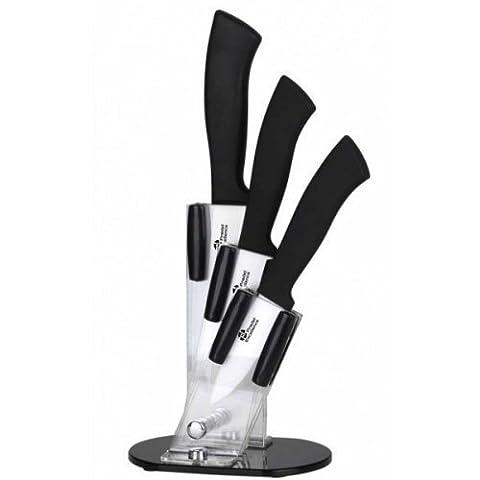 Pradel Excellence - BL003 - Bloc Plexi de 3 Couteaux Lame Céramique