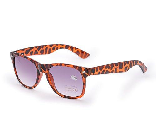 Damen Herren Lesebrille Sonnenbrille +1.5 +2.0 +3.0 +4.0 Sun Readers Perfekt für den Urlaub Retro Vintage Brille MFAZ Morefaz Ltd (+1.5, Panther)
