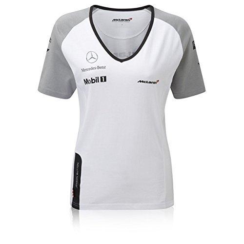 Camiseta para mujer Button 2014, de McLaren, color blanco, tamaño small