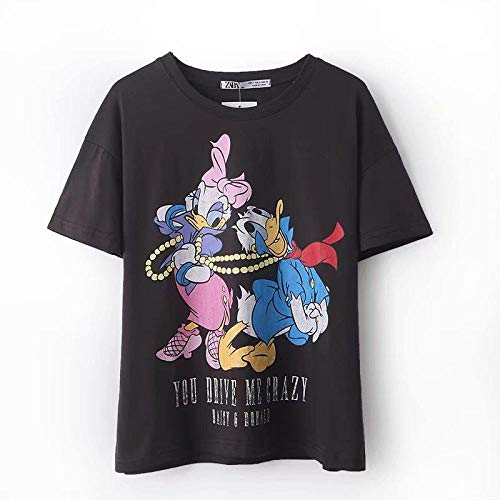 Preisvergleich Produktbild ljradj banxiu Graues,  kurzärmliges T-Shirt mit Rundhalsausschnitt und Sommer-Cartoon-Print 1 M