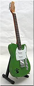 FRANCIS ROSSI STATUS QUO Miniature Guitar Fender Telecaster Green