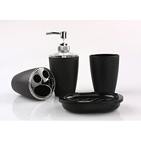 WINOMO Accessori bagno Set plastica elegante sapone