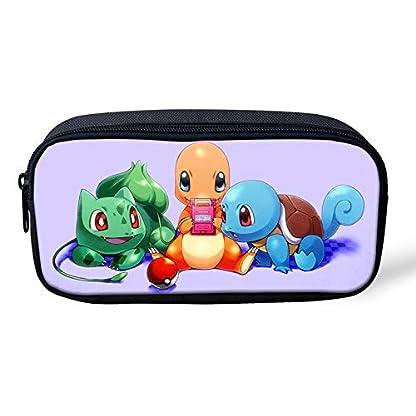 Pokemon Pikachu – Estuche para lápices de gran capacidad para la escuela, oficina, colegio, colegio, niña, tamaño grande