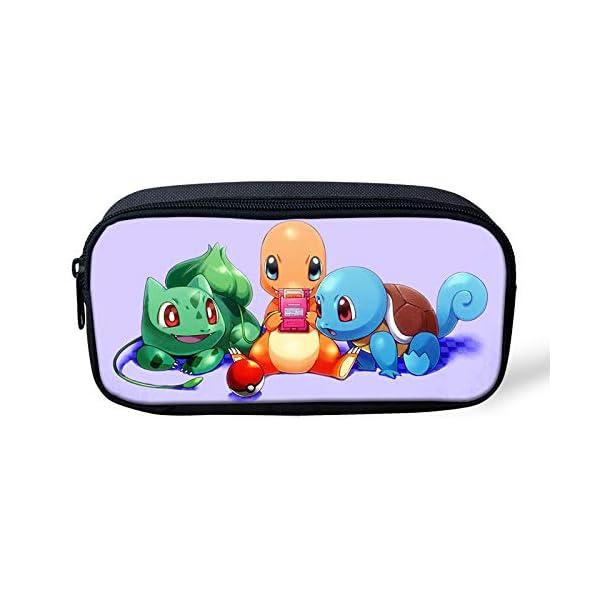 Pokemon Pikachu – Estuche para lápices de gran capacidad para la escuela, oficina, colegio, colegio, niña, tamaño grande…