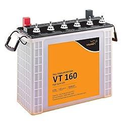 V-Guard VT160 150 mAh Inverter Tubular Tall Battery(Multicolour)
