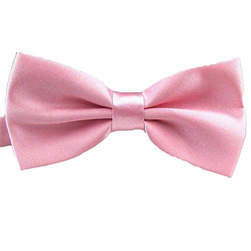QYdress Herren Fliege, verstellbare Länge, Hochzeit, Männer, Mode für Jungen Mädchen, Kinder, Damen, Satin - rosa - Einheitsgröße Gold Satin Cummerbund