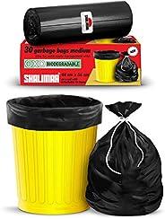 Shalimar Premium OXO - Biodegradable Garbage Bags (Medium) Size 48 cm x 56 cm 6 Rolls (180 Bags) (Black Colour