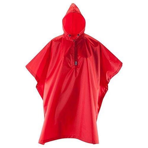 QFFL Poncho Erwachsene Wasserdichte tragbare Poncho Outdoor Wandern Reiten Regenmantel Größe Optional Kirsche roten Kopf Regenjacken (größe : S) - Optional Kirsche