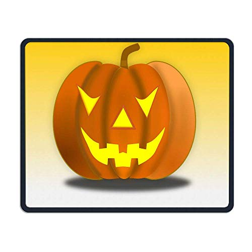 Halloween Pumpkin Smiley Face Office Rectangle Non-Slip Rubber Mouse Pad Comfortable Gaming Mouse Pad for Laptop Displays Tablet Keyboard