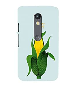 FUSON Corn Texture Pattern Background 3D Hard Polycarbonate Designer Back Case Cover for Motorola Moto X Play