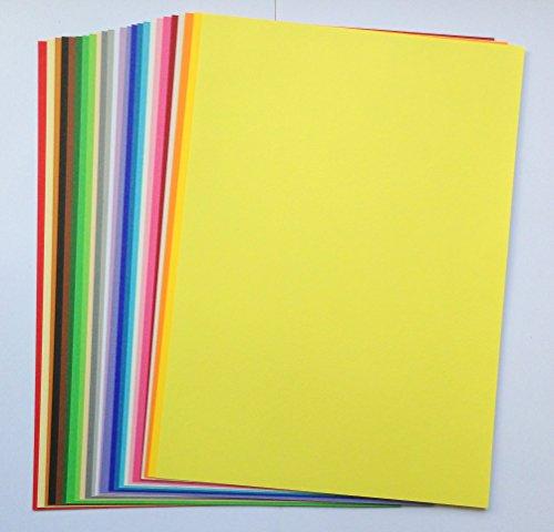 25 Blatt Tonzeichenpapier A4 135g/qm 25 Trendfarben sortiert