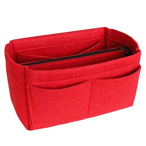 a1caea0fd2 Apsoonsell Feltro Organizer Borsa Donna, Bag in Bag Organizzatore Interno  Purse Per Borsetta Cosmetici Borsa - Rosso L/Grande