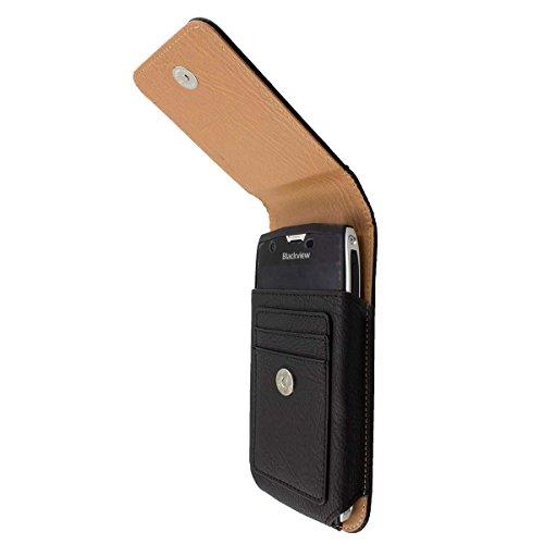 caseroxx Handy-Tasche Outdoor Tasche für CAT S60 aus Echtleder, Handyhülle für Gürtel in schwarz